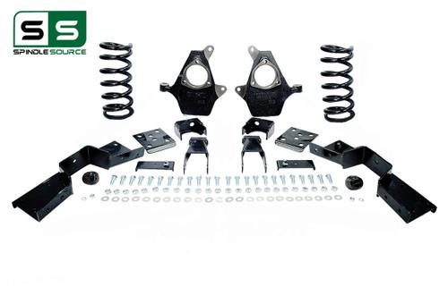"99 - 00 Silverado / Sierra 1500 (V6)  4"" / 7"" Coil Drop Kit + C-Notch"