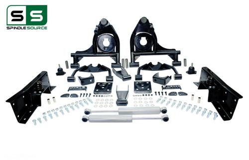 "01 - 06 Silverado / Sierra 1500  4"" / 7"" Control Arm Drop Kit + Shocks, C-Notch"