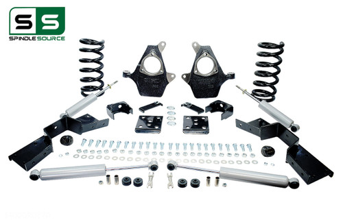 "01 - 06 Silverado / Sierra 1500 (V8)  5"" / 6"" Drop Kit + Shocks, C-Notch"