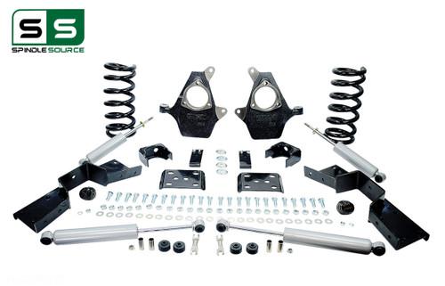 "01 - 06 Silverado / Sierra 1500 (V6)  5"" / 6"" Drop Kit + Shocks, C-Notch"