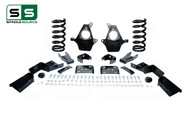 "99 - 00 Silverado / Sierra 1500 (V8)  5"" / 7"" Coil Drop Kit + C-Notch"
