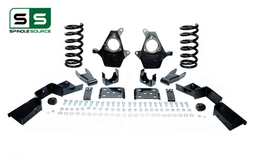 "99 - 00 Silverado / Sierra 1500 (V6)  5"" / 7"" Coil Drop Kit + C-Notch"