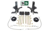 """7""""/5"""" SPINDLES,BLKS,COIL SPACER W/O.L. FITS 88-00 CHEVY C2500/C3500 2WD 8 LUG"""