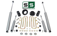 "3""/3"" FR SPACERS,BLOCKS,4 SHOCKS W/O.L. FITS 88-00 CHEVY C2500/C3500 2WD 8 LUG"
