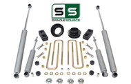 "2.5""/2"" FR SPACERS,BLOCKS,4 SHOCKS W/O.L. FITS 88-00 CHEVY C2500/C3500 2WD 8 LUG"