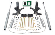 "4.5""/3"" SPINDLES,BLOCKS, 4 SHOCKS W/O.L. FITS 88-00 CHEVY C2500/C3500 2WD 8 LUG"