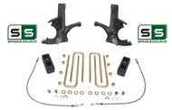 "4.5""/3"" SPINDLES,LIFT BLOCKS W/OUT O.L. FITS 88-00 CHEVY C2500/C3500 2WD 8 LUG"