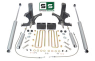 "4.5""/4"" SPINDLES,BLOCKS,4 SHOCKS W/O.L. FITS 88-00 CHEVY C2500/C3500 2WD 8 LUG"
