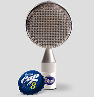 Blue Bottle Cap B8 - Close - www.AtlasProAudio.com