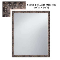 Custom Skull Framed Mirror