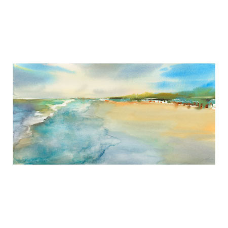 REFERENCE NO. TR29667-PCN TITLE Beach Front 1 ARTIST Julie Cohn  MEDIUM Giclee on Paper