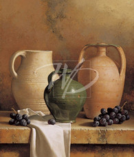 Loran Speck   Earthenware with Grapes  SLP301  13