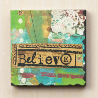 Believe Green Wall Art