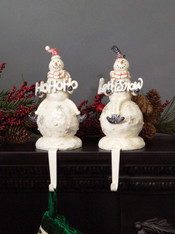 Snowman Stocking holders