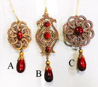 "5.5"" - 7.5"" Ruby red brooch drop ornaments"