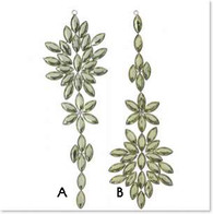 Green jeweled ornaments