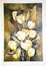 """Golden Tulips  by Linda Thompson  19 3/4""""W X 27 1/2""""H OD  Published by Canadian Art Prints Inc.  8279"""