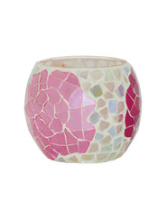 Cottage Rose Mosaic Votive