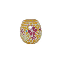 Egg Shaped Mosaic Votive