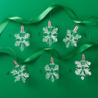 Glass LED Snowflake Ornament