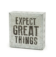 Expect Great Things Metal Wall Art