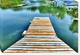 Bright Dock Gallery wrapped canvas 26 x 38 Overall Dimensions