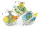 "Easter Bowl & Scoop set  Set of 3 different bowls  Hand painted ceramic bowl  Easter scoop  bow 5' x 2.25""  Scoop 5.25 x 1.25"