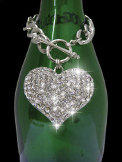 Crystal Heart Bottle Charm