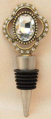 Vintage Wine Bottle Stopper Cameo (brass)