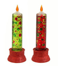 """10"""" GLITTERED CANDLE LAMP"""