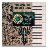 MAKE MY HEART SING W/ BLACK RESIN CROSS