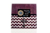 LARGE FRAME MAROON AND WHITE CHEVRON