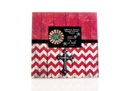 LARGE FRAME RED AND WHITE CHEVRON