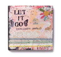 Let It Go Flower Wall Art
