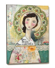 Hello Faith Hello Courage Wall Art