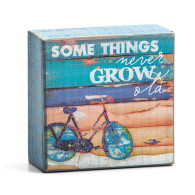 """Some things Never grow old  Materials: pine wood Measurements: 4""""sq."""