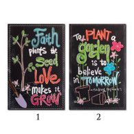 Chalkboard Look Garden Canvas