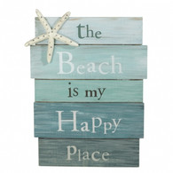 """Beach Is My Happy Place"" Sign"