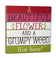 Beautiful Flower Grumpy Weed Wall