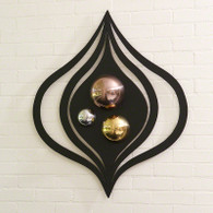 "Istanbul Panel   36.5"" L x 31"" W x 4"" deep   Hangs on 2 keyholes   Can be hung vertically or horizontally"
