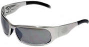 OutLaw Eyewear Inmate 2 Polished Aluminum frame Silver Chrome lenses