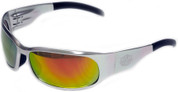OutLaw Eyewear Inmate 2 Polished Aluminum frame Sunburst Fire Chrome lenses