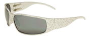 Tornado Polished Aluminum frame with Gray Lenses Motorcycle Biker Aluminum Sunglass