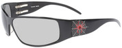 Tornado Spider Motorcycle Sunglass with Extra Dark Transition Lenses- Custom Engraving