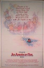 AN AMERICAN TAIL original issue rolled Style B 1-sheet movie poster