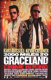 3000 MILES TO GRACELAND original issue rolled 1-sheet movie poster