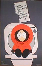 SOUTH PARK original issue rolled Style A movie poster