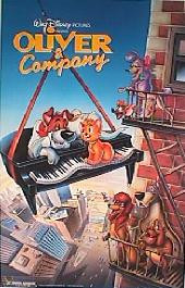 OLIVER & COMPANY original issue rolled double sided 1-sheet movie poster