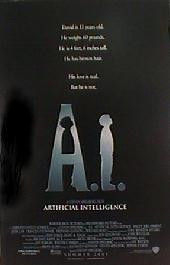 A.I. original issue rolled double sided Advance 1-sheet movie poster