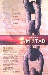 AMISTAD original issue rolled double sided Advance 1-sheet movie poster